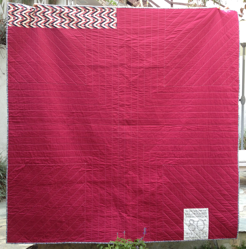 If she sleeps... hicks quilt back